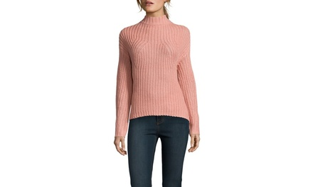 CLICHE Long Sleeve High-Low Sweater