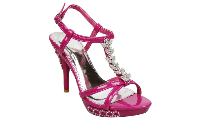 Jeweled Formal Wedding Bridal Low Heel Open Toe Platform Sandal