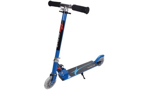 Blue Folding Aluminum 2 Wheel Kids Kick Scooter Adjustable Height