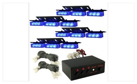 Zone Tech 36 LED Blue Emergency Warning Flashing Strobe Lights f99f8068-6213-4dc6-9240-7b26ad7e219e