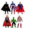 6Pcs/Lot The Avengers figures super hero toy doll baby Avengers