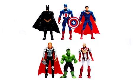 6Pcs/Lot The Avengers figures super hero toy doll baby Avengers 15516f2d-1446-476d-8fe6-5e50791371e4
