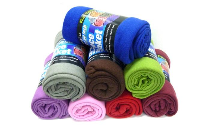 Buy It Now : Fleece Blanket-50in,College Dorm Room Accessories,(Colors May Vary)