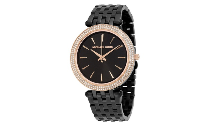 4fb607c0c6c9 Michael kors womens darci black ion plated watch groupon jpg 700x420 Michael  kors watch mk3407
