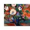 Sheila Golden Cobalt Bouquet Canvas Print 24 x 32