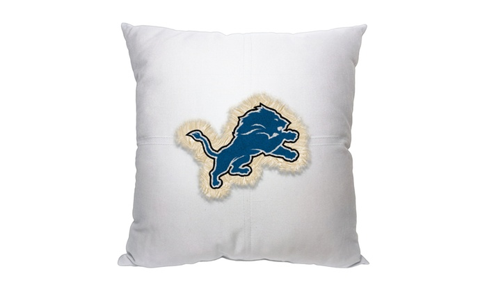 NFL 142 Lions Letterman Pillow