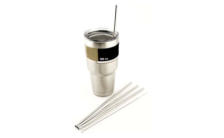 4 LONG Stainless Steel Straws fits 42923119-689c-4955-86c9-5832ac504e33