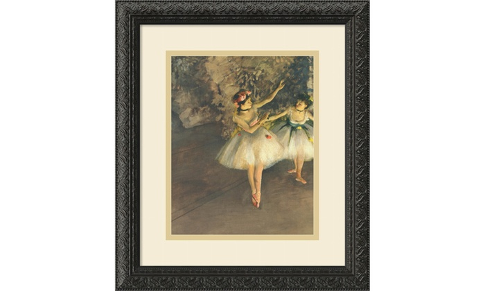 Edgar Degas Two Dancers On Stage C 1874 Framed Art
