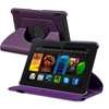 Insten For Amazon Kindle Fire HDX 7in 360 Swivel Leather Case, Purple