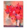 Sheila Golden Contemporary Floral Canvas Print