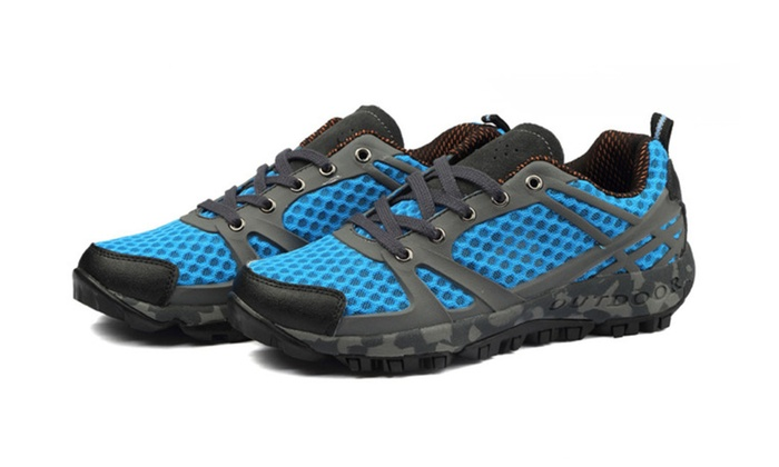 Shefetch Men's Mesh Quick Dry Walking Shoes
