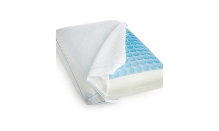 Sensorpedic Luxury Cooling Gel Overlay Memory Foam Bed Pillow