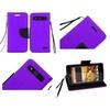 Insten Folio Leather Case Lanyard stand card slot For ZTE Speed Purple