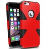 Insten Red/Black Dynamic Slim Hybrid Hard Soft Cover For iPhone 6 Plus