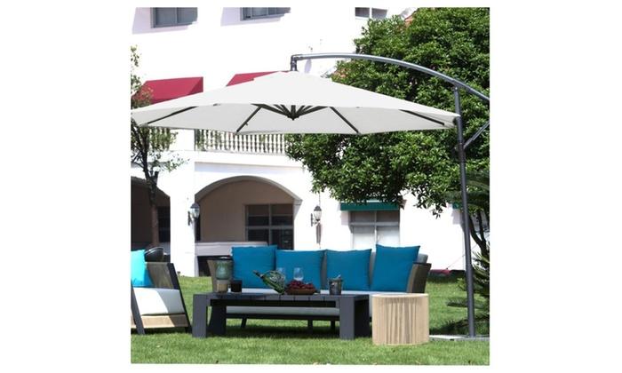 abba patio 10 ft offset cantilever hanging patio umbrella - Abba Patio