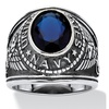 Blue Sapphire Navy Ring in Stainless Steel