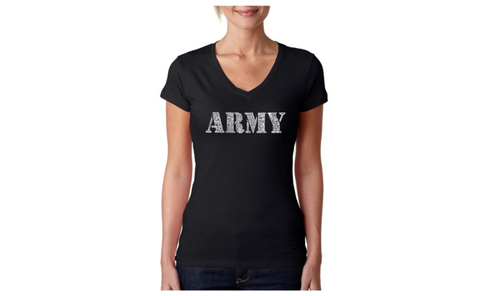 Women's V-Neck T-Shirt - LYRICS TO THE ARMY SONG