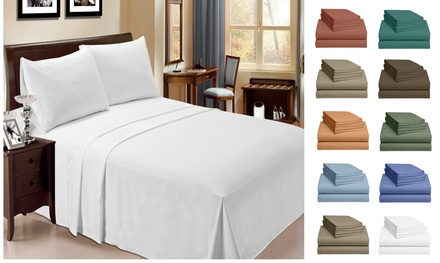 6 Piece Bamboo Sheet Set w/ 18 Inch Deep Pocket by LuxClub - 10 Colors - Group 4
