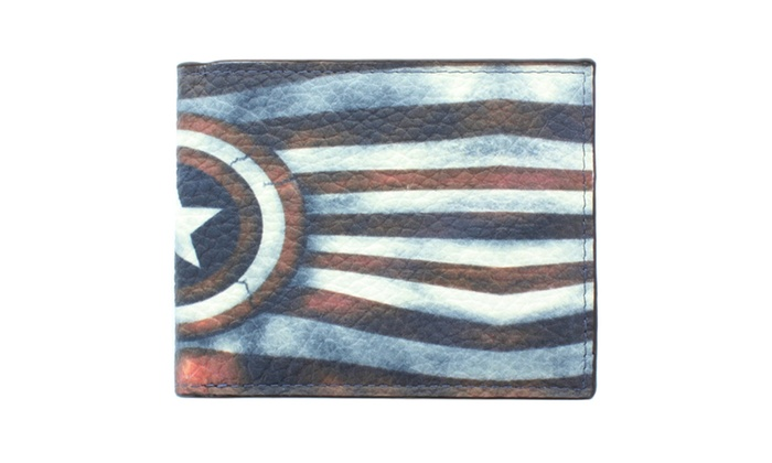 Men's Fashion 'USA Star' Wallet WLT-U0011 in Multi Color