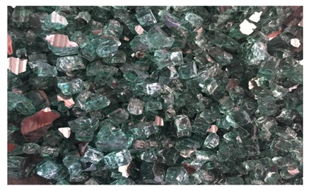 Irish Green Reflective Fire Glass Firepit Glass Premium 10 Pound Great for Fire Pit Fireglass or Fireplace Glass
