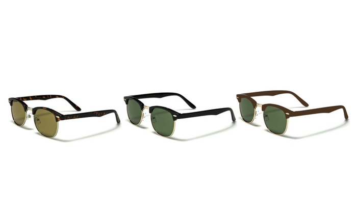 Retro Clubmaster Style Sunglasses with UV 400 Protection