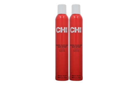 CHI Enviro Flex Hold Hair Spray Firm Hold 12 oz (Pack of 2) ed8fffb3-fe9a-4706-81f1-f616b80d64e0