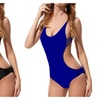 Women's Summer Hollow Out Strappy One Piece Bandage Swimsuits