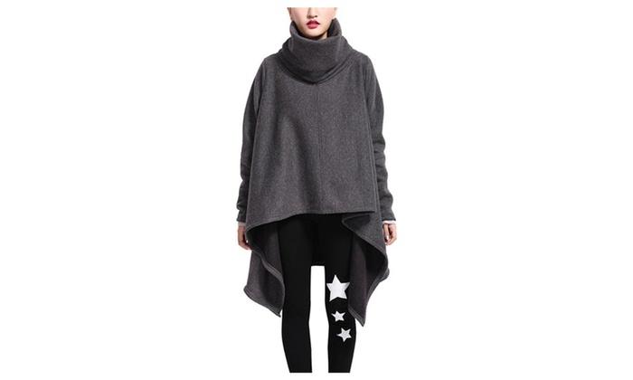 DPN Women Casual Bat Wings Tassel Print Sweatshirt Onesize