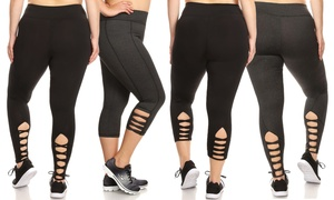 Women's Plus Size Active Capri and Leggings