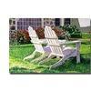 David Lloyd Glover White Chairs on Carmelina Canvas Print