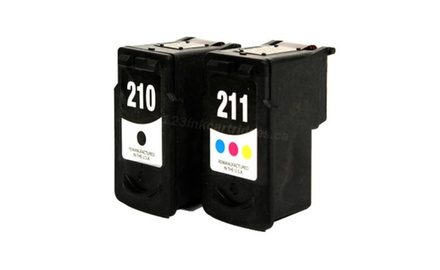 Compatible Canon PG210-CL211 (Black/Tri-Color) Combo Set