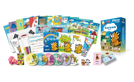 Korean for Kids Deluxe set, 6 DVD set, Flashcard set, Books and Posters