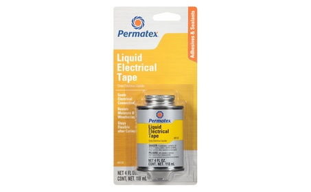 Permatex 85120 4 oz Brush Top Can Liquid Electrical Tape photo