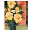 Sheila Golden Tropical Bloom Canvas Print