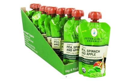 Peter Rabbit Organics Fruits & Vegetables - Pea Spinach & Apple - 4 oz (pack of 10)