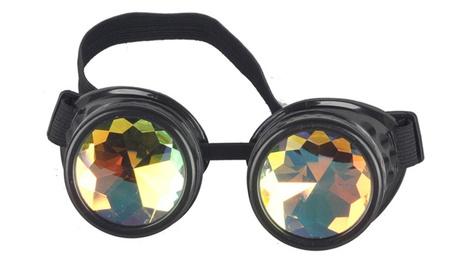 Welding Silver Cosplay Gothic Colorful Lens Men's Eyewear Sunglass 3edb9b4b-a426-49ef-9b73-fc415d55c720