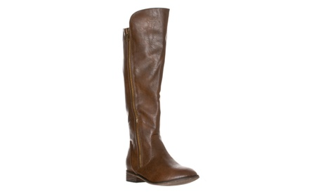 Riverberry 'Clayton-12' Zipper Riding Knee High Boots, Light Brown