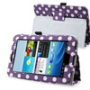 Insten Purple Dot Stand Leather Case for Samsung Galaxy Tab 2 7 P3100