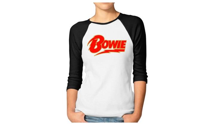 Womens' David Bowie Life On Mars The Stars Raglan T Shirts