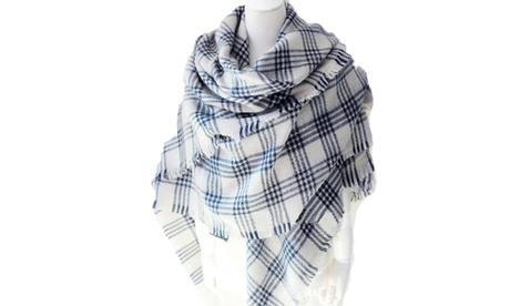 Women's Tartan Blanket Scarf Ultra-Soft Convertible Pashmina Shawl Scarf ef1b9eab-b795-4b04-966d-e380056a4de4