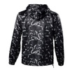 Men's Winter Zip Printed Loose Hoodie Outwear Warm Windbreaker Jackets