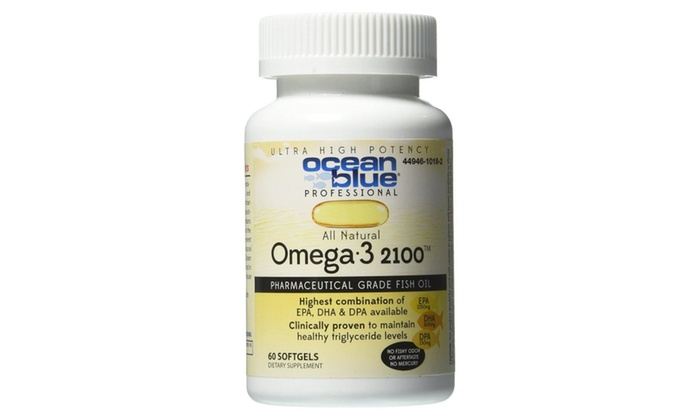 Ocean blue omega 3 2100 softgels 60ct healthy triglyceride for Triglyceride fish oil