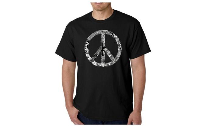 Men's T-shirt - PEACE, LOVE, & MUSIC