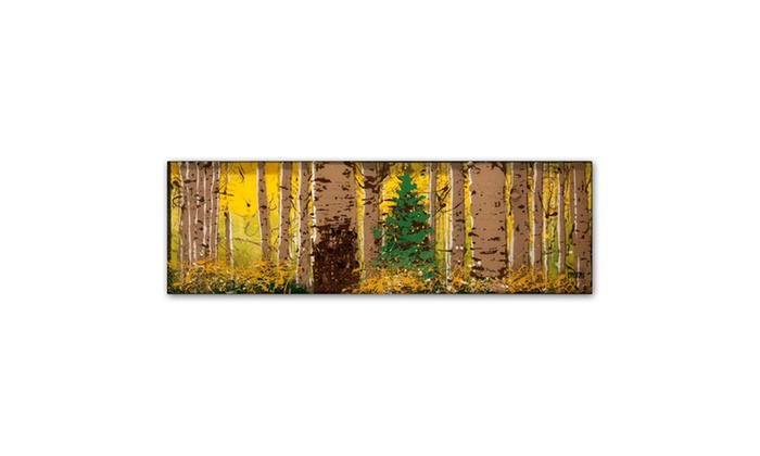 Groupon Goods: Roderick Stevens 'PanorAspen Lone Pine' Canvas Art