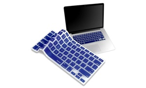 "Insten Silicone Keyboard Shield Apple MacBook 13"" Pro Series Dark Blue"