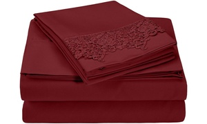 Superior 3000 Series Microfiber Regal Lace Embroidery Sheet Set at Groupon Goods, plus 9.0% Cash Back from Ebates.