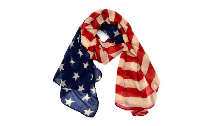 68″ Vintage American Flag Scarf