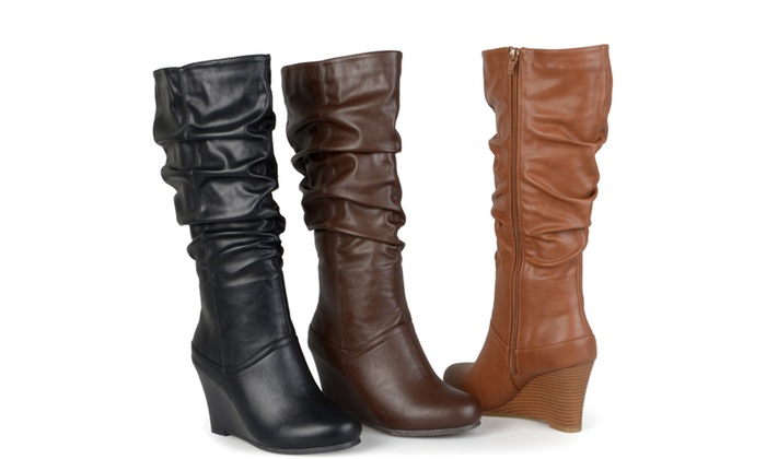 Journee Collection Womens Slouch Knee-High Dress Boots