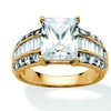 4.83 TCW Emerald-Cut Cubic Zirconia Ring