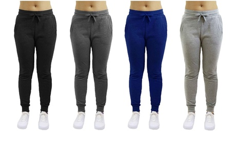 Women's Loose Fitting Fleece Jogger Sweatpants 2ec15184-fe2c-444c-af4b-df88e3a8e683